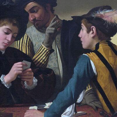 عکس قدیمی از قماربازان در حال بازی