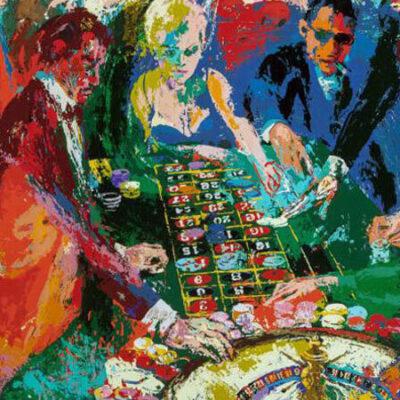 یک نقاشی از بازیکنان در حال بازی رولت