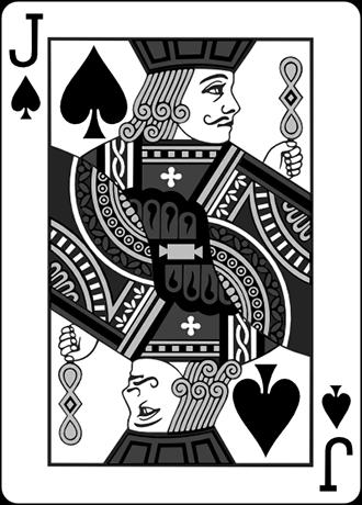 تصویری از کارت سرباز در بازی پوکر