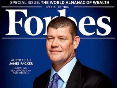 جیمز پکر بر روی مجله فوربس