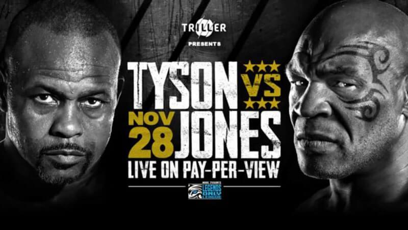 مسابقه بوکس میان مایک تایسون و روی جونز در 28 نوامبر 2020