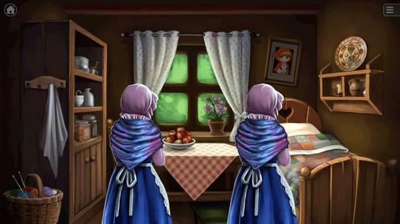 مرحله بونوس بازی شنل قرمزی با پیدا کردن مادربزرگ