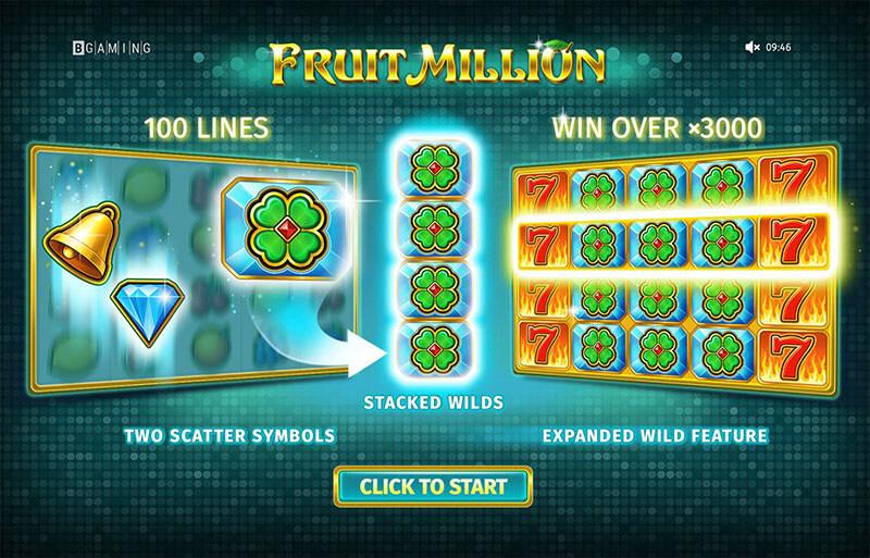 اسلات میلیون میوه با ویلدهای گوناگون شانس برنده شدن جوایز بزرگ را فراهم آورده است
