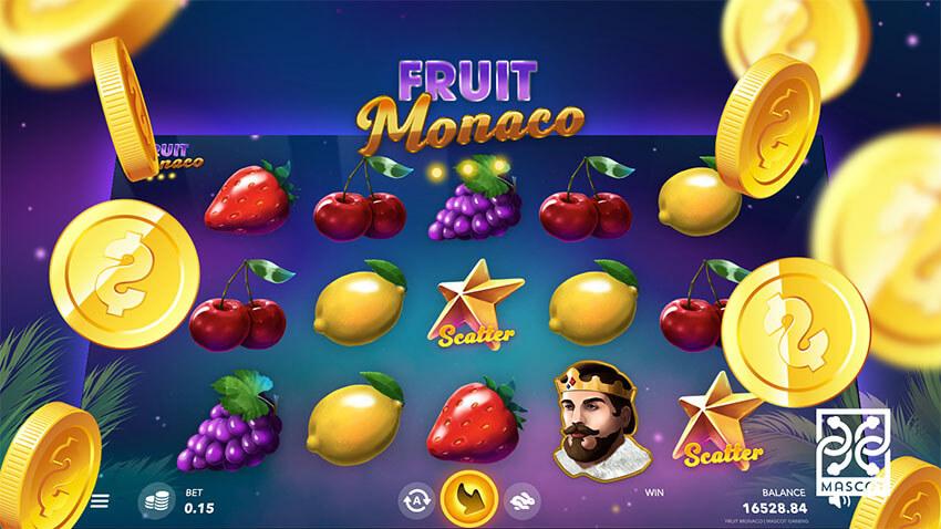 بازی اسلات کازینویی آنلاین جدید میوه موناکو