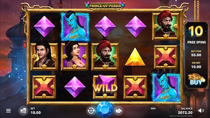 بازی اسلات کازینو آنلاین شاهزاده پارس: جواهرات پرسپولیس