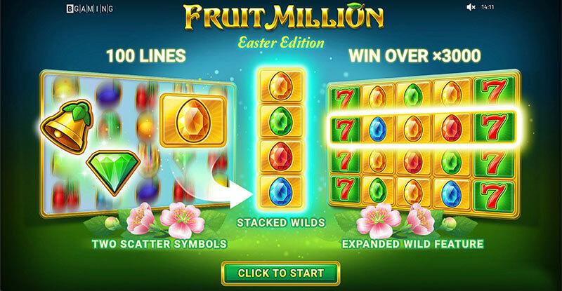 بازی اسلات کازینو آنلاین میلیون میوه نسخه عید پاک