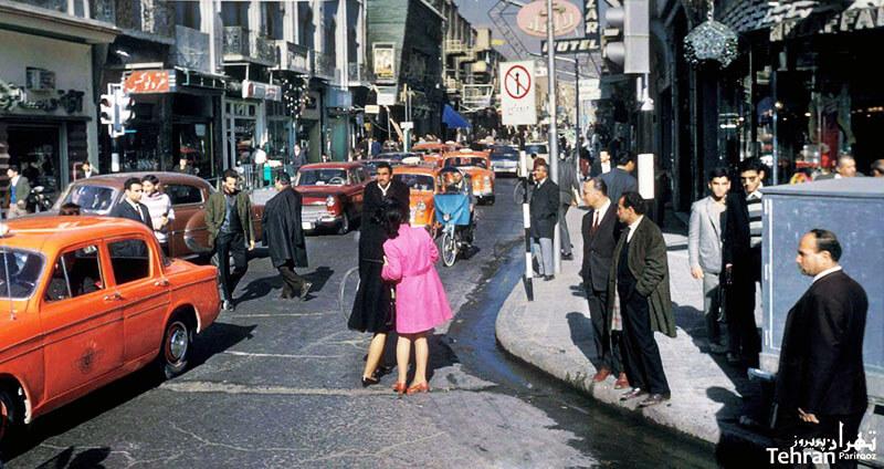 تصویری از خیابان لاله زار تهران پیش از انقلاب سال 57 در ایران