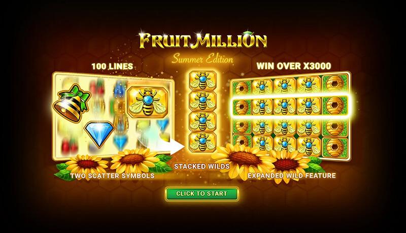 بازی اسلات کازینو آنلاین میلیون میوه به نسخه تابستان بروزرسانی گردید